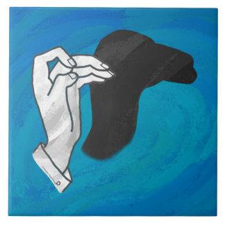 Shadow Camel On Blue Ceramic Tile