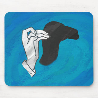 Shadow Camel On Blue Mouse Pad
