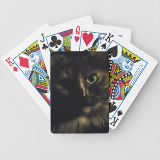 Shadow Cat Art Photography Green Eyes Kitty Bicycle Playing Cards