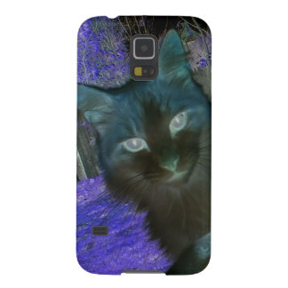 Shadow Cat in Lavender Galaxy S5 Case