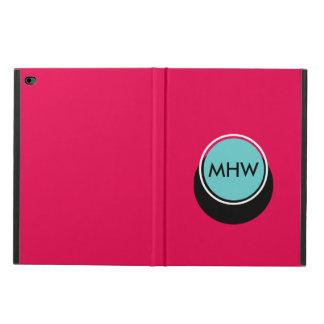 Shadow Circle Monogram Blue on Pink Custom Color Powis iPad Air 2 Case