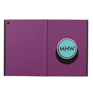 Shadow Circle Monogram Blue on Purple Custom Color Powis iPad Air 2 Case