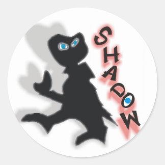 Shadow Classic Round Sticker