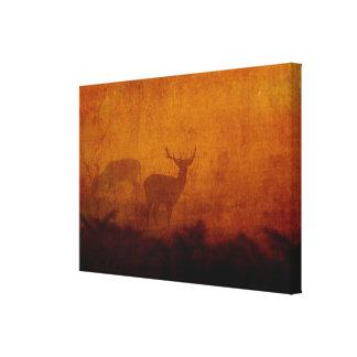 Shadow Deer Canvas Print