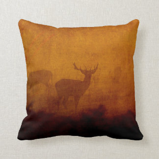 Shadow Deer Throw Pillow