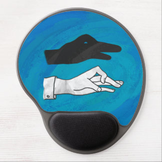 Shadow Duck On Blue Gel Mouse Pad