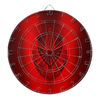 SHADOW DUCK RED DARTBOARD WITH DARTS