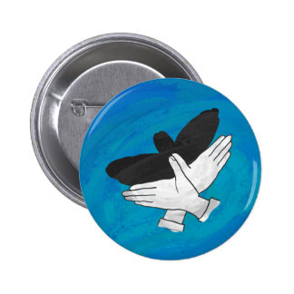Shadow Eagle On Blue Button