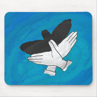 Shadow Eagle On Blue Mouse Pad