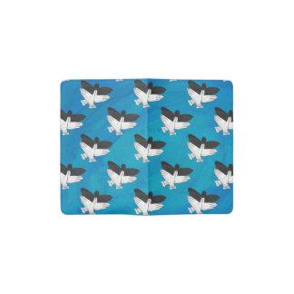 Shadow Eagle on Blue Pocket Moleskine Notebook