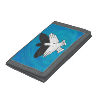 Shadow Eagle On Blue Trifold Wallet
