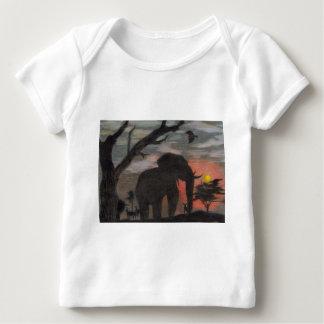 Shadow Elephant Baby T-Shirt