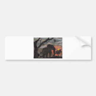 Shadow Elephant Bumper Sticker