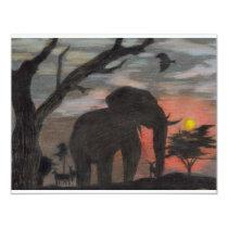 Shadow Elephant Card