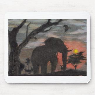 Shadow Elephant Mouse Pad