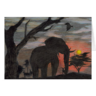 Shadow Elephant-orange interior Card