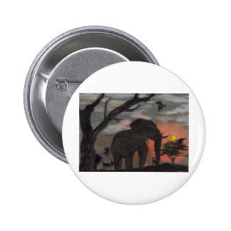 Shadow Elephant Pinback Button