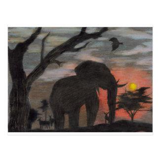 Shadow Elephant Postcard