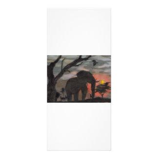 Shadow Elephant Rack Card