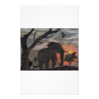 Shadow Elephant Stationery