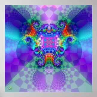 Shadow Fire. poster print fractal fog light fire