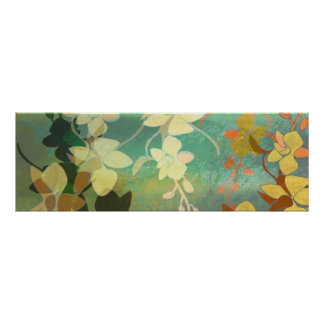 Shadow Florals Poster