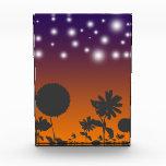Shadow Flowers at Sunset Acrylic Award