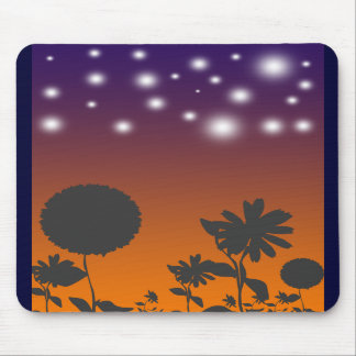 Shadow Flowers at Sunset Mousepad