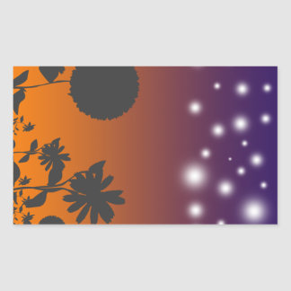 Shadow Flowers at Sunset Sticker