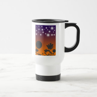 Shadow Flowers at Sunset Travel Mug