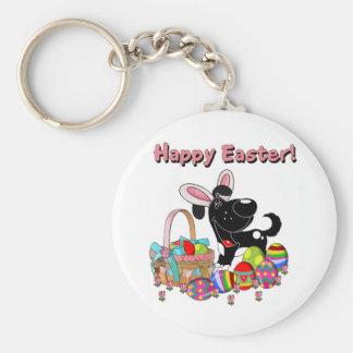 Shadow has Easter Bunny Ears Basic Round Button Keychain