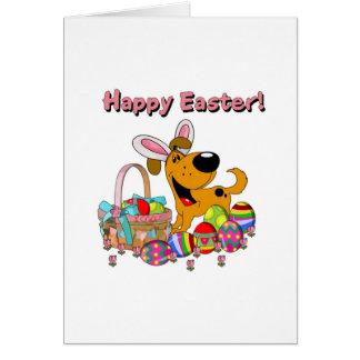 Shadow has Easter Bunny Ears! Greeting Card