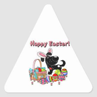 Shadow has Easter Bunny Ears Triangle Stickers