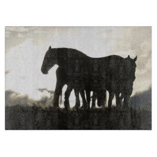 Shadow horses cutting board
