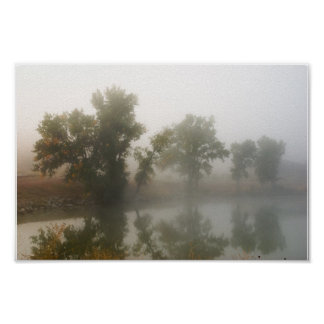 Shadow Lake in the Mist Poster