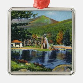 Shadow Lake Overshot Water Wheel View Metal Ornament