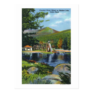 Shadow Lake Overshot Water Wheel View Postcard