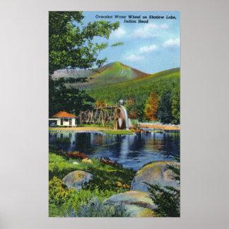 Shadow Lake Overshot Water Wheel View Poster