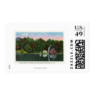 Shadow Lake Water Wheel Indian Head View Postage
