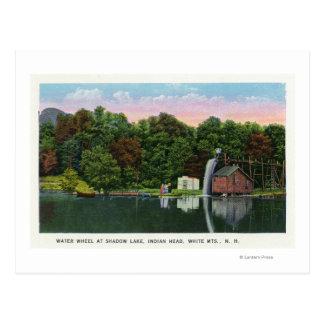 Shadow Lake Water Wheel Indian Head View Postcard