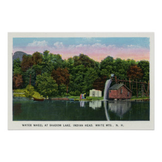 Shadow Lake Water Wheel Indian Head View Poster