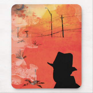 shadow man mouse pad