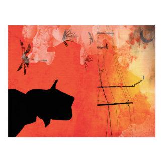 shadow man postcard