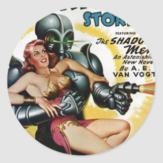 Shadow Men from Space Classic Round Sticker