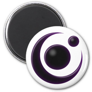 Shadow Moon 2 Inch Round Magnet