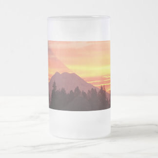 Shadow 16 Oz Frosted Glass Beer Mug