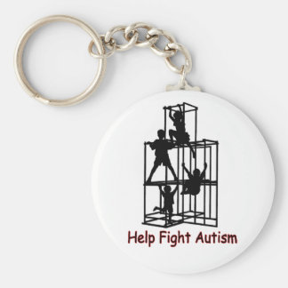 shadow of autism basic round button keychain