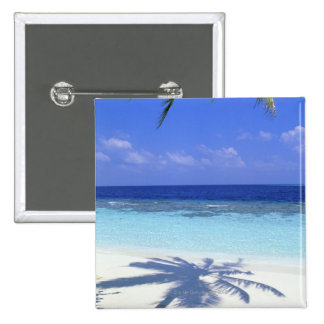 Shadow of Palm Tree Pinback Button