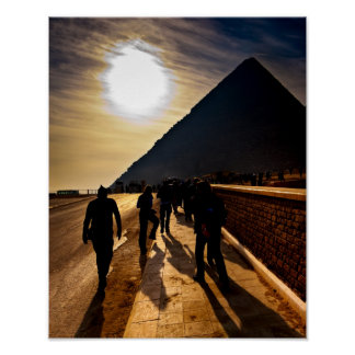 Shadow Of The Great Pyramid - Egypt 11x14 Archival Poster