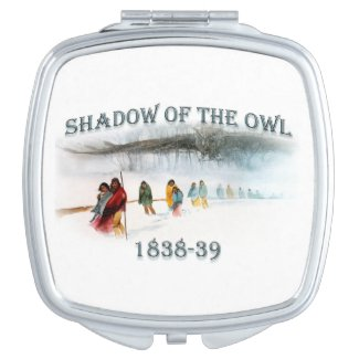 Shadow of the Owl 1838-39 Compact Mirror